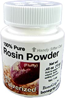 Mill Pulverized 100% Pure Rosin Powder, sifter cap, Net Wt: .45 oz (13 g), Vol: 1 oz