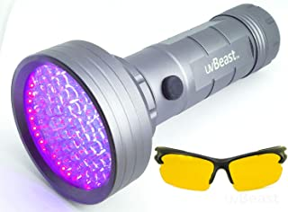 uvBeast NEW 68 LED 3 Modes – Compact Black Light UV Flashlight with HIGH POWER Beam 385-395nm - Best for Cat Dog Urine Detection Works Even in Ambient Light - Patented - Designed in UK