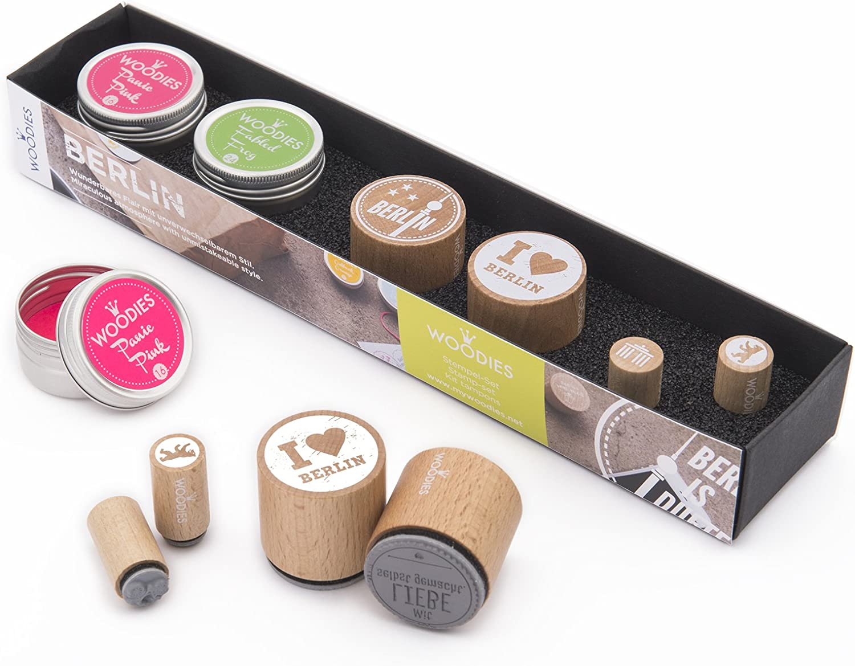 Rössler Papier - - Woodies Stempelset BERLIN - Liefermenge  1 Stück B07CX821PB   Deutschland Online Shop