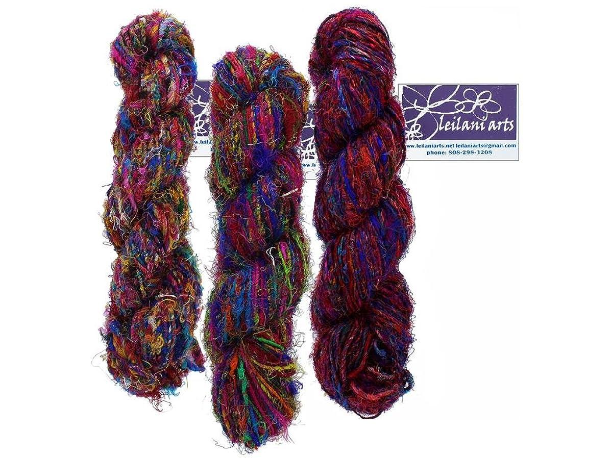 Leilani Arts LEI699007 Silk Yarn 80yd Multi Silk Yarn Multi
