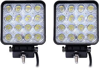 Leetop 8 x 48 vatios 16 1616 proyector LED de luz de trabajo LED para faros de coche de la l/ámpara de foco de luz de marcha atr/ás de luz adicional para faros delanteros