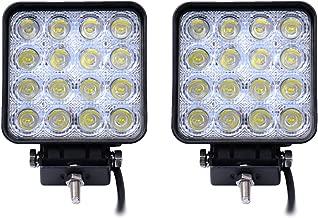 Leetop 4X 12W Faro da Lavoro Luce di Profonditaa LED Piazza Offroad Proiettore Riflettore Worklight Impermeabile IP67 Pressofuso in Alluminio Nero