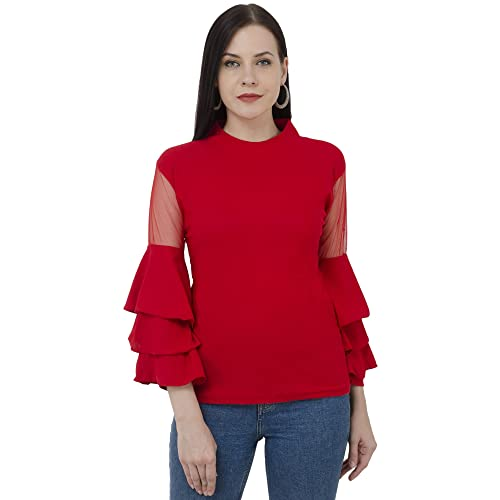 4af84486439 Ruffle Tops: Buy Ruffle Tops Online at Best Prices in India - Amazon.in