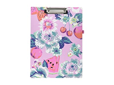 Vera Bradley Clipboard Folio (Pink Rosy Garden Picnic) Wallet