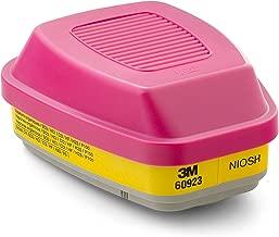3M Organic Vapor/Acid Gas Cartridge/Filter 60923, P100 Respiratory Protection, 4 Filters