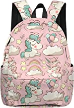 School Backpacks for Boys Girls Book Bag Lightweight Casual Schoolbag Travel Daypack Blue Butterfly Print
