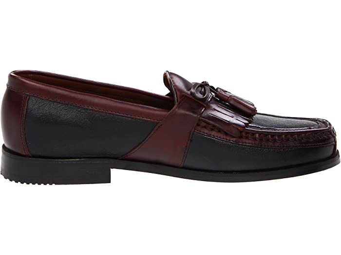 Johnston & Murphy Aragón Kiltie Tassel Loafer Black Deer W/antique Chestnut Waxhide Trim Loafers