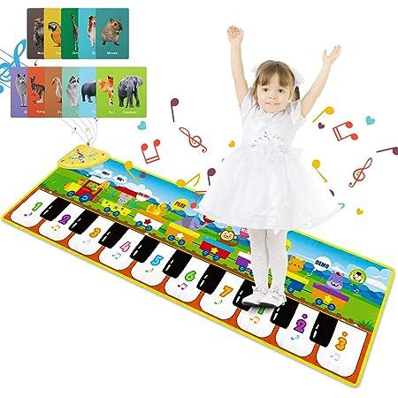 Joyjoz Alfombra de Piano con 25 Sonidos, Alfombra Musical de ...