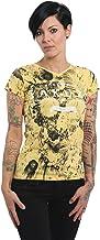 Yakuza Vrouwen T-Shirts Bloem Schedel V-hals...