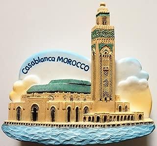 Hassan II Mosque Casablanca MOROCCO Resin 3D fridge Refrigerator Thai Magnet Hand Made Craft. by Thai MCnets