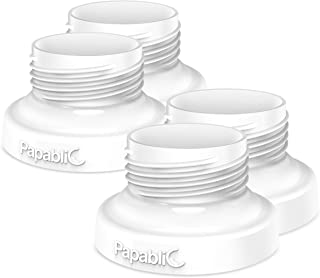[4-Pack] Papablic Direct Pump Bottle Adapter, for Spectra S1 S2, Avent Breast Pumps to Use with Comotomo Baby Bottles