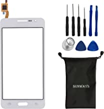 sunways Glass Lens Screen with Touch Digitizer Replacement for Samsung Galaxy Grand Prime G530 G530F G5308(White) with Device Opening Tools