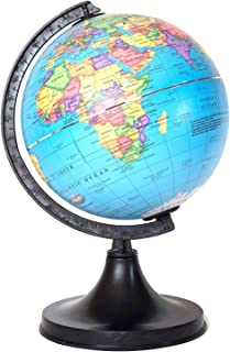 SS Ecom Plastic World Map Educational Globe with Plastic Stand, Decorative Geographic Globe for Kids - 15 cm Diameter