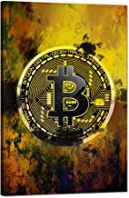 "Modern Inspirational Canvas Wall Art Bitcoin Motivational Painting Hodl Crypto Btc Inspiration Motivation Posters Cryptocurrency Trader Hodler Artwork for Office Home Wall Decorations (12""Wx18""H)"