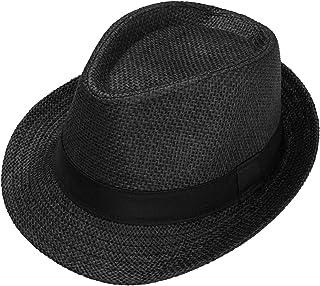 CHIC DIARY قبعة فيدورا الكلاسيكية للرجال سترو قبعة الشمس قصيرة بريم تريبلي فيدورا قبعة بناما جاز