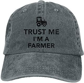 Trust Me I Am Farmer Tractor Denim Hat Adjustable Unisex Great Baseball Hat