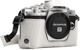 MegaGear MG1354 Estuche para cámara fotográfica - Funda (Funda Olympus OM-D E-M10 Mark III Tirante para Hombro Blanco)