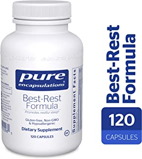 Pure Encapsulations - Best-Rest Formula - Hypoallergenic Supplement for Restful Sleep* - 120 Capsules
