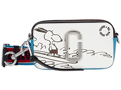 Marc Jacobs Snapshot Peanuts Americana Crossbody (White Multi) Cross Body Handbags