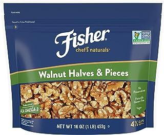 Walnut Halves & Pieces, 16 oz, Naturally Gluten Free, No Preservatives, Non-GMO (Halves, 16 Ounce (2-Pack))