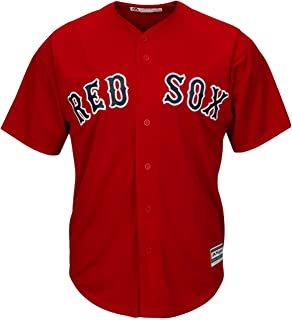 Boston Red Sox Blank Red Youth Cool Base Alternate Jersey