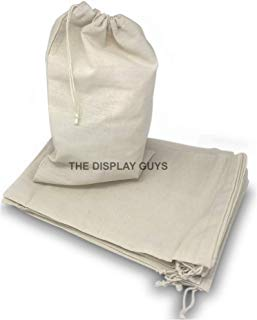 48-Pack heavy-duty 4x6 Pure Cotton Canvas Muslin Bags with Drawstring, Washable, Multipurpose by The Display Guys