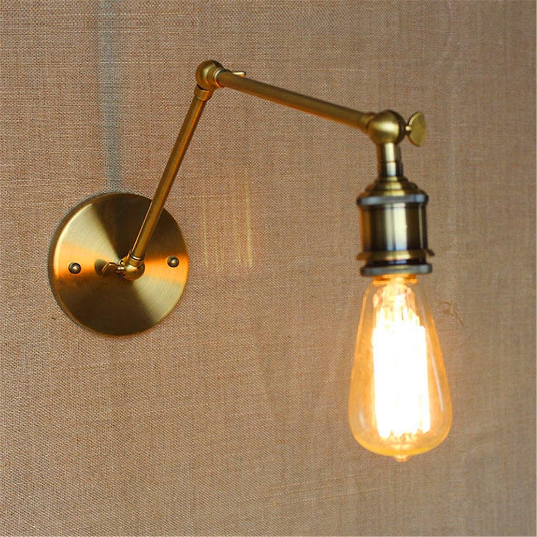 StiefelU LED Wandleuchte nach oben und unten Wandleuchten Im Dorf gibt es keine Lampe Spiegel vorne Lampenkopf Studie Galerie der kunst Eisen mit langem Arm (30 +30 cm) Wandleuchten ist, Gold