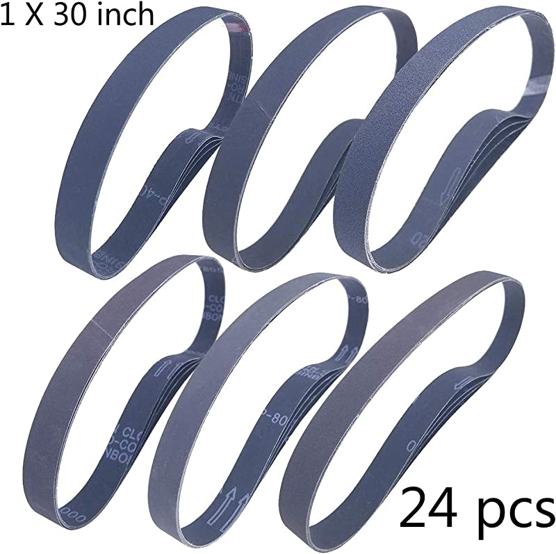 Sackorange 1 X 30 Inch High Performance Silicon Carbide Sanding Belts Premium Knife Sharpening Sanding Belts Assortment 120 240 400 600 800 And 1000 Grits 24 Pack