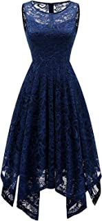 Lace Bridesmaid Dresses Homecoming Dress Handkerchief Hem Asymmetrical Cocktail Formal Swing Dress