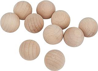 Rayher 6252300 Holzkugeln ohne Bohrung, 20 mm ø, SB-Btl 10 Stück