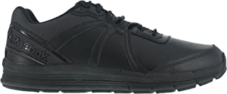 Reebok Mens Black Leather Work Shoes Oxford Guide 5 W