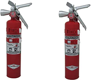 Amerex TYF B385TS, 2.5lb Halotron I Class B C Fire Extinguisher Pack of 2