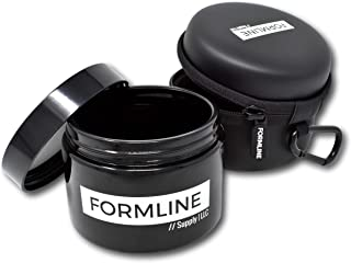 Formline Smell Proof Stash Jar - 1/2 Oz Container (250 ml) Includes Free Discreet Travel Case - Black Airtight UV Glass Preserves All Contents and Odors