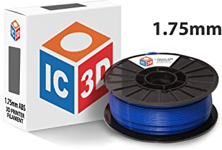 IC3D Blue 1.75mm ABS 3D Printer Filament - 1kg Spool - Dimensional Accuracy +/- 0.05mm - Professional Grade 3D Printing Filament - MADE IN USA