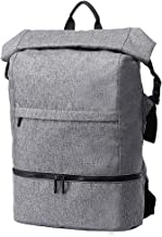 Travel Gym Backpack, Waterproof 17 Inch Laptop Rucksack Anti-Theft School Daypack with Shoes Compartment for Sports Travel Business Hiking (Gray)