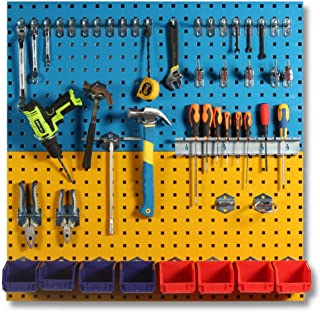 パンチングボード 有孔ボード 2个ウォールコントロールフックボード主催メタルフックボード標準工具収納キット 壁面収納 壁掛け収納 (Color : Photo Color, Size : 90X45cm)