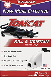 Tomcat Kill and Contain Mouse Trap, 2-Pack(2Pack 4 Traps total)