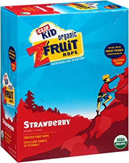 CLIF Organic Strawberry Twisted FruitRope Box, 0.07 OZ (Pack of 18)