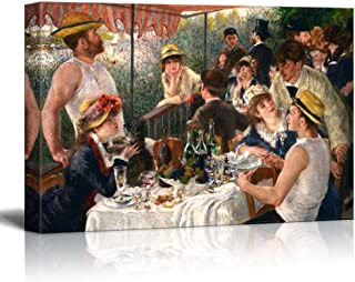 wall26 Luncheon of The Boating Party by Pierre-Auguste Renoir - Canvas Wall Art Famous Fine Art Reproduction| World Famous Painting Replica on Wrapped Canvas Print Modern Home Decor - 24
