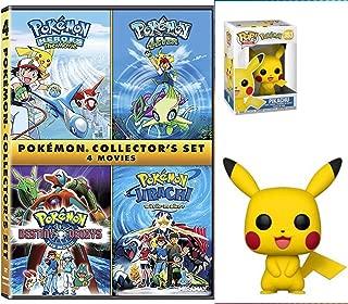 Heroes of Collectors Pokémon 4-Film Set DVD Cartoon Pokemon 4Ever, Jirachi, Pokemon Destiny Deoxy's Collectors with pikachu 4 movies figure bundle
