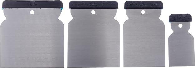 Werkzeyt Japanse plamuurset 4-delig 50 mm, 80 mm, 100 mm en 120 mm blad van verenbandstaal zuurbestendig en flexibel voor ...
