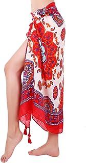 5afb61a82d3d1 Zhanmai Women's Chiffon Sarong Wrap Beach Swimsuit Bikini Sarong Pareo Wrap  for Summer Vacation Wearing