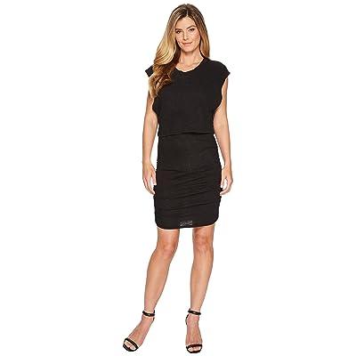 Lanston Layered Mini Dress (Black) Women