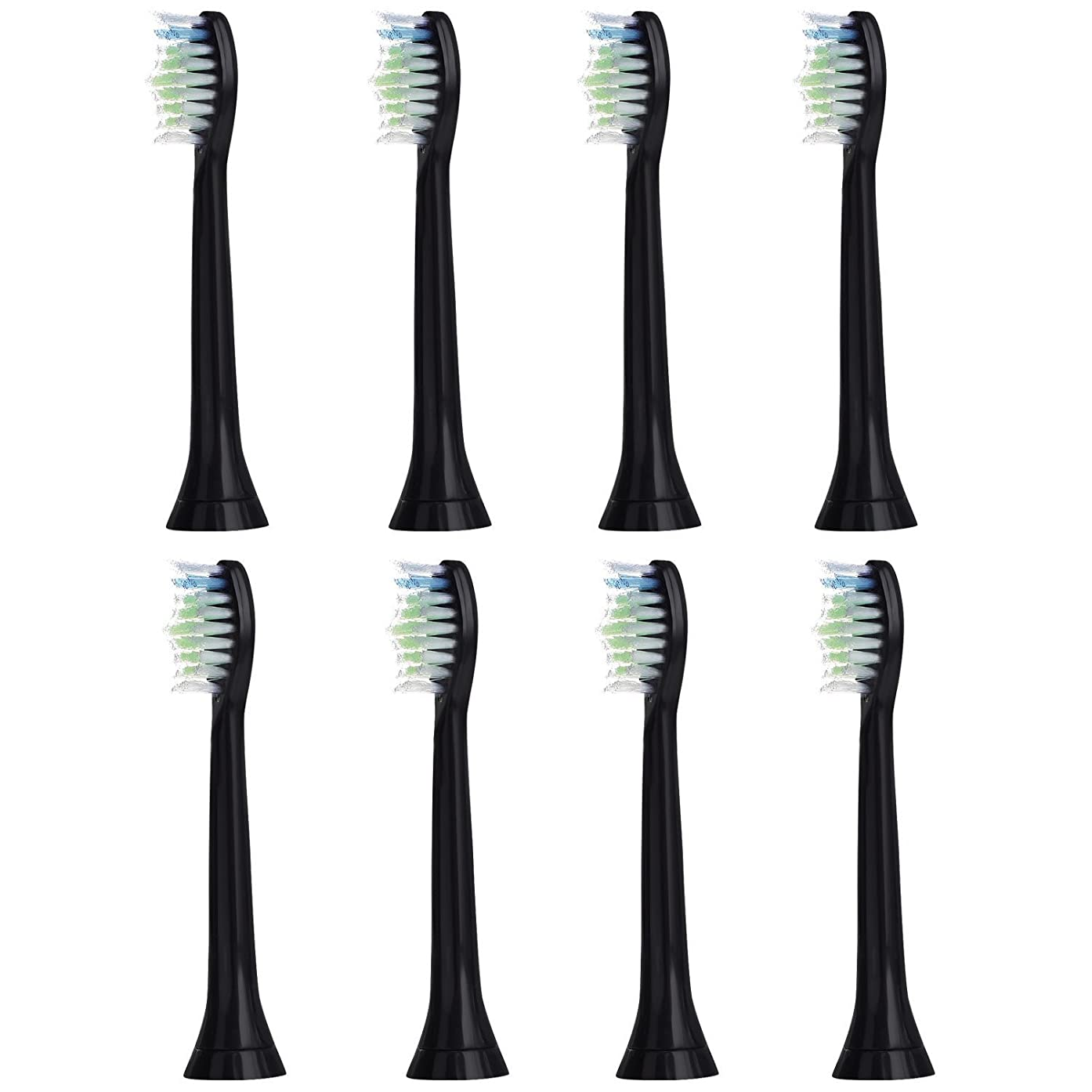 支給寄託議題8個セット (2x4) E-Cron? Philips ソニッケアーダイヤモンドクリーン ブラック替ブラシ。次のフィリップス電動歯ブラシのモデルとの完全互換性があります: DiamondClean、FlexCare、FlexCare Platinum、 FlexCare(+)、 HealthyWhite、2シリーズ、EasyClean およびPowerUp。