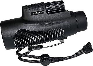 SVBONY 8×42 Compact Monocular Telescope Scope Waterproof Fogproof Single Hand Focus Multi Coated for Bird Watching