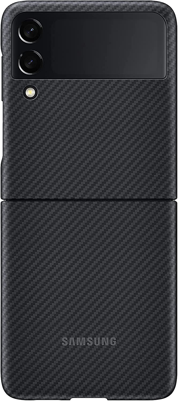 Samsung Galaxy Z Flip 3 Phone Case, Aramid Protective Cover, Heavy Duty, Shockproof Smartphone Protector, US Version, Black