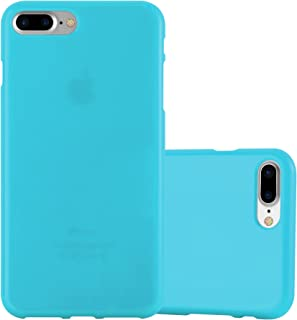 Cadorabo Case Works with Apple iPhone 8 Plus / 7 Plus / 7S Plus in Jelly Light Blue (Design Jelly) – Shockproof Scratch Resistant Gel Case Protective Shell Bumper Skin Back Cover