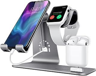 Bestand Soporte [3 en 1] Apple iWatch Estante para, Punto Cargador para Airpods, Apple Watch para iPhoneX/8Plus/8/7/ 6s Pl...