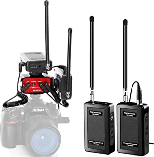 Camera Wireless Microphone Bundle for YouTube Podcast, Saramonic Wireless Lavalier Mic System 2 Transmitters and 2 Receivers & Audio Mixer SR-AX100 for Interviewing DSLR Camcorders Vlog Livestream