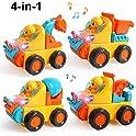 Beebeerun Take Apart Toy Construction Vehicles Kit